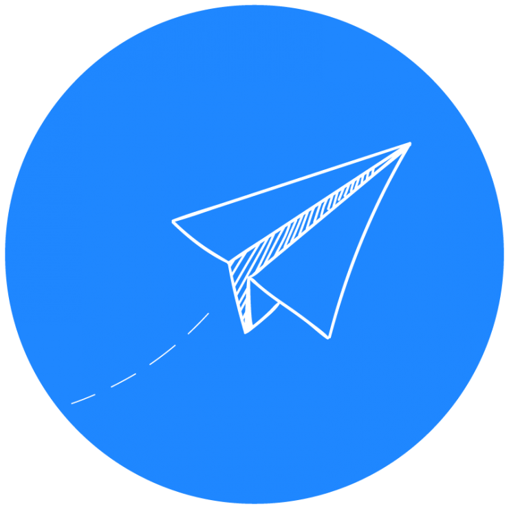 paper airplane blue